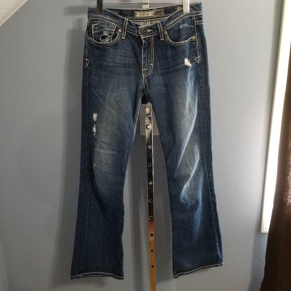 BKE Denim by Buckle Fulton Bootcut Distress Jeans